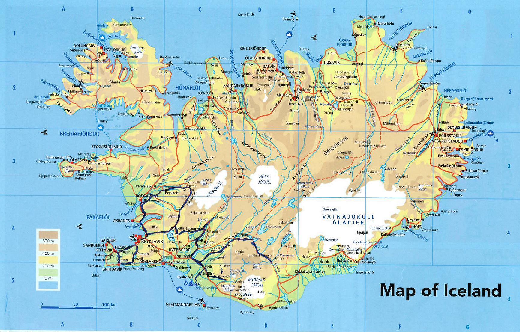 kart over island Islandtur 2015 Vesterålen Info Lokalhistorie kart over island